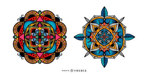 Indian Mandala Vector Set