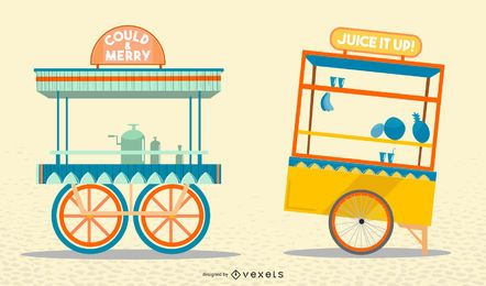 Indian trucks vector set