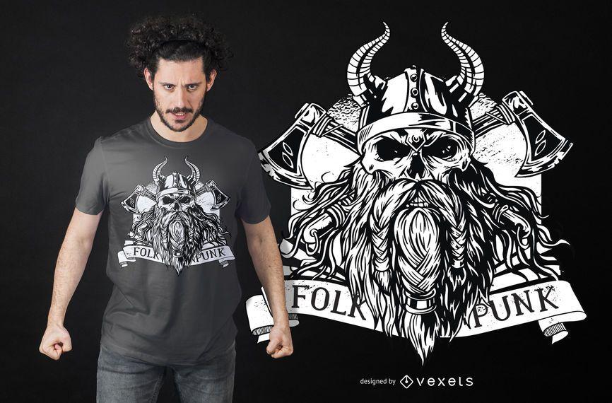 Bearded Viking T-Shirt Design