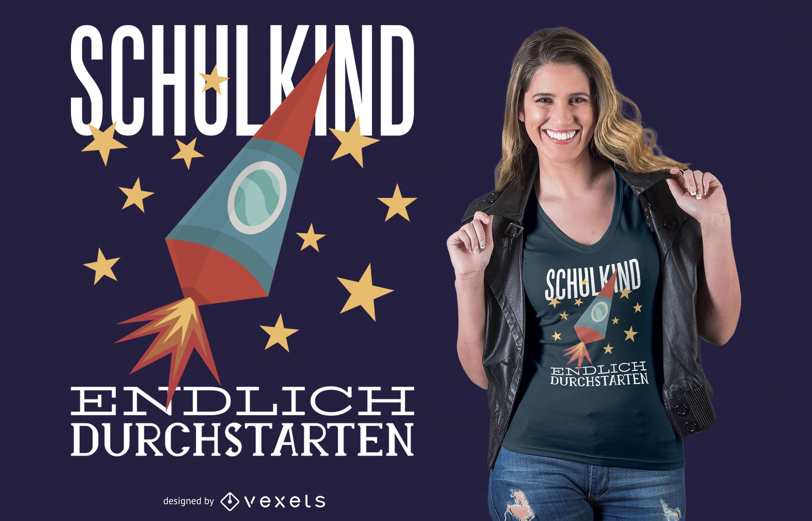 School Kid German T-Shirt Design