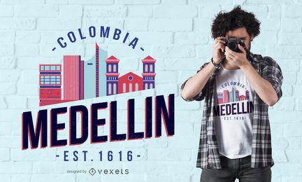 Diseño de camiseta de Medellín