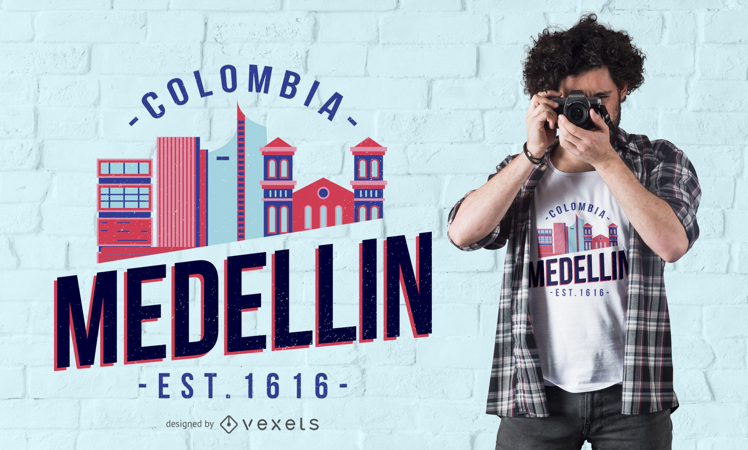 Diseño de camiseta Medellin