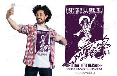 Diseño de camiseta de Surfing Jesus
