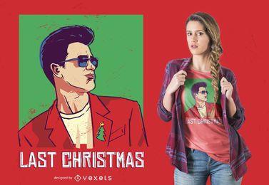 Diseño de camiseta Last Christmas