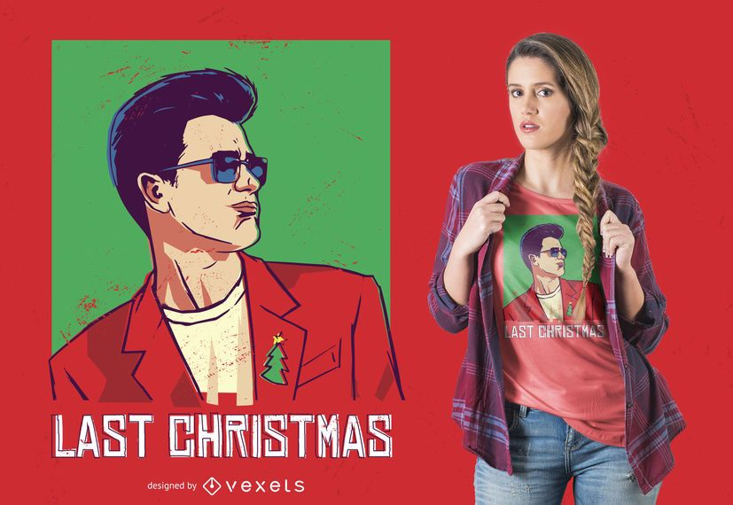 Diseño de camiseta de Navidad pasada
