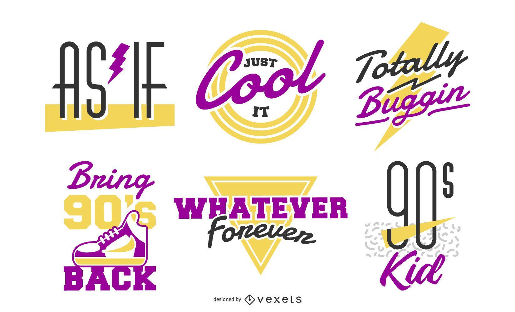 90s retro lettering set