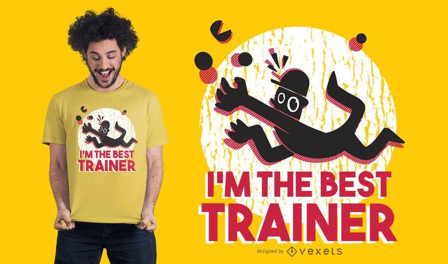 Melhor treinador T-shirt Design