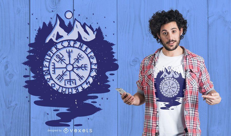 Wikinger Kompass T-Shirt Design