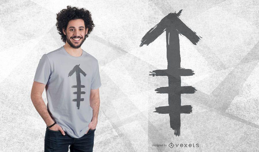 Diseño tribal de la camiseta de la flecha