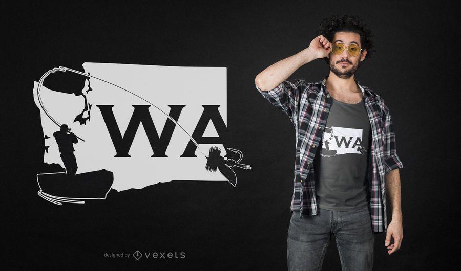 Washington State Fliegenfischen T-Shirt Design