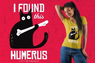 Diseño de camiseta de gato divertido