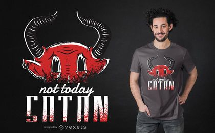 Projeto do t-shirt de Satan