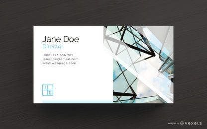 Plantilla de tarjeta de visita de arquitecto