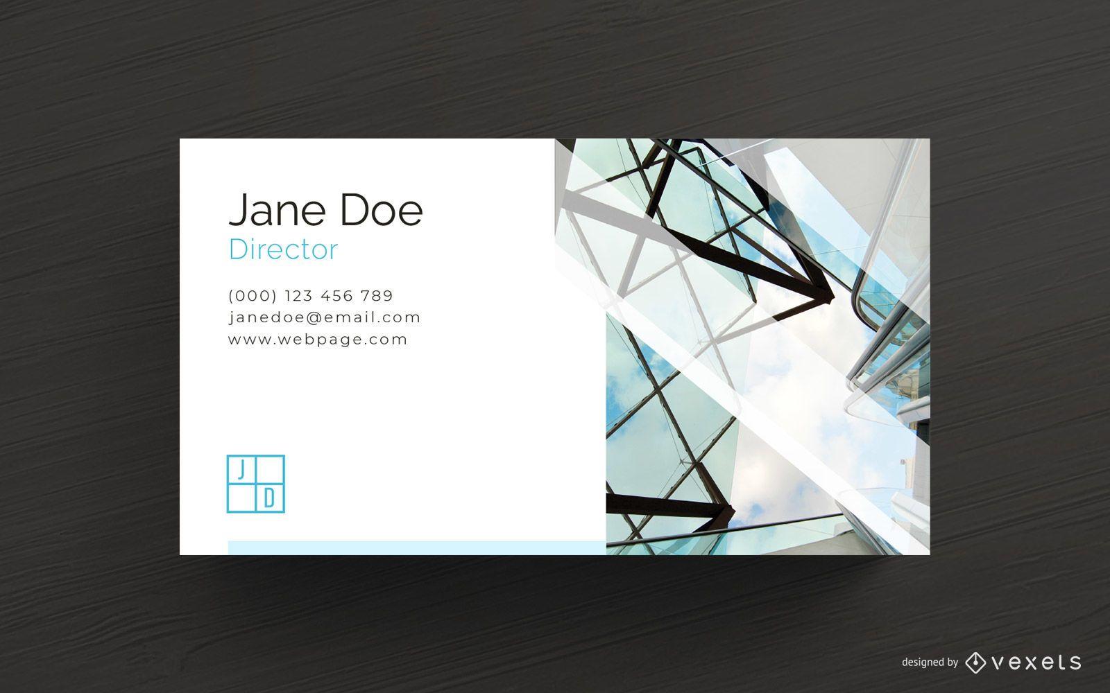 Architekt Visitenkarte Vorlage Vektor Download