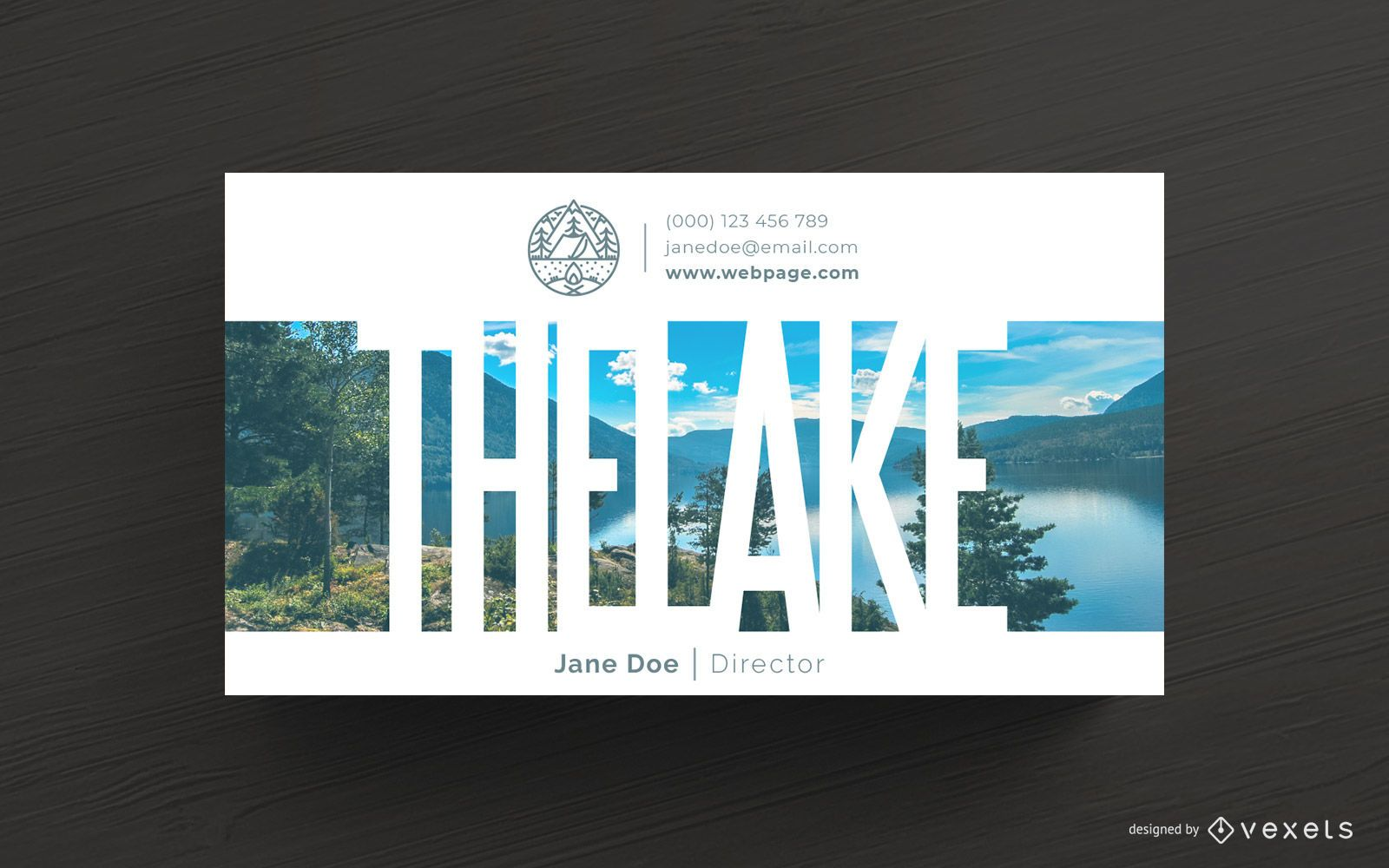 Camping Business Card Template