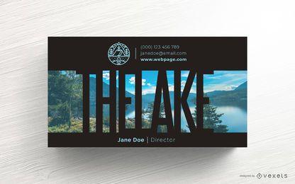 Diseño de plantilla de tarjeta de visita de camping