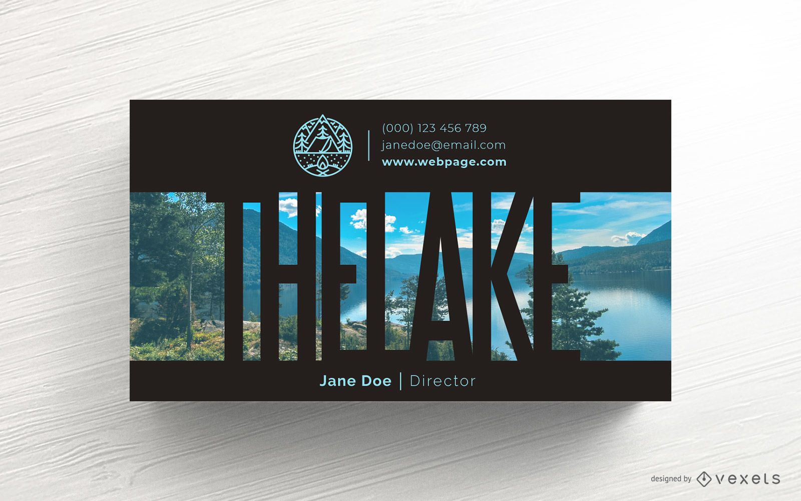 Camping Business Card Template Design