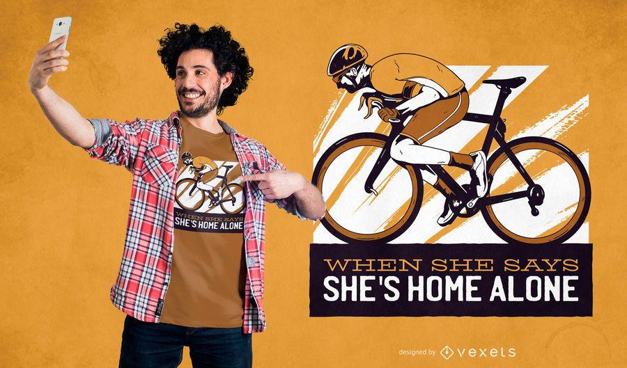 Diseño de camiseta de cita de ciclista
