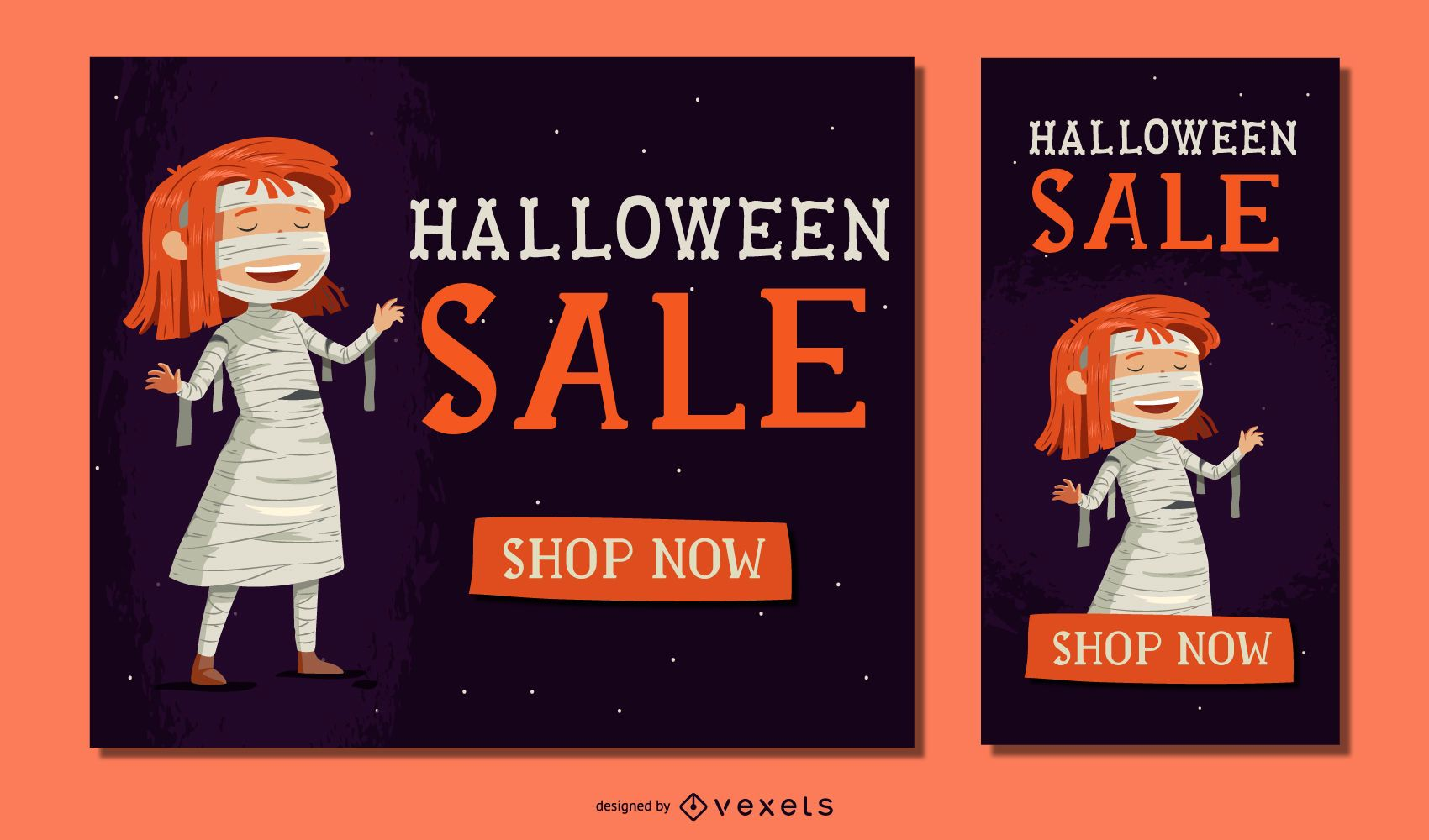 Halloween Girl Mummy Sale Banner