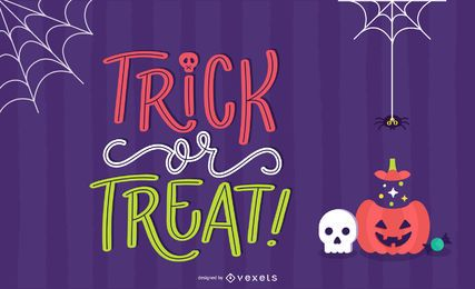 Trick or Treat Lettering Background Design