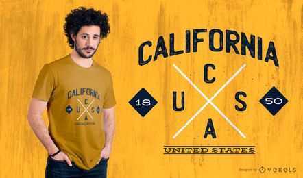 California State Hipster Logo T-shirt Design