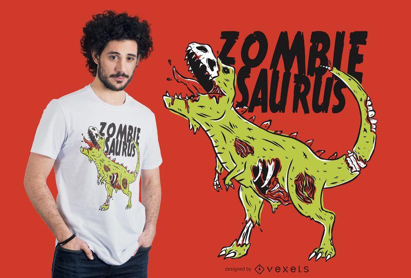Diseño de camiseta Zombiesaurus