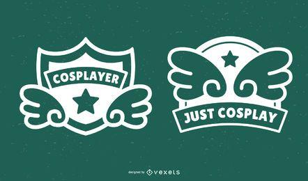 Conjunto de emblemas de cosplay