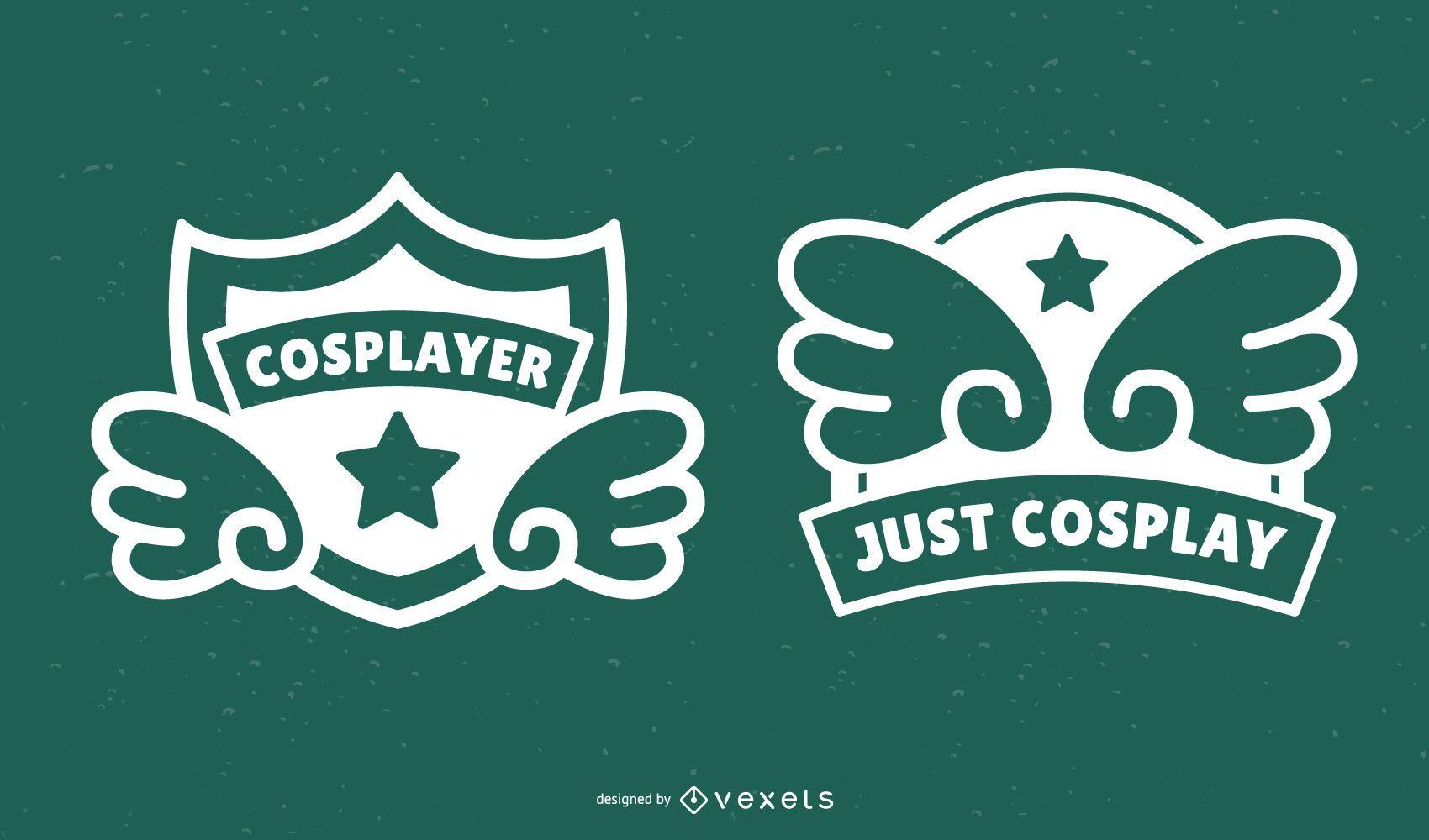 Cosplay badges set