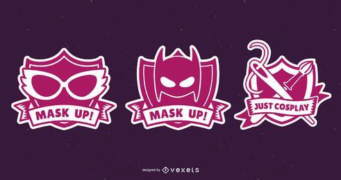 Conjunto de design de emblemas de cosplay