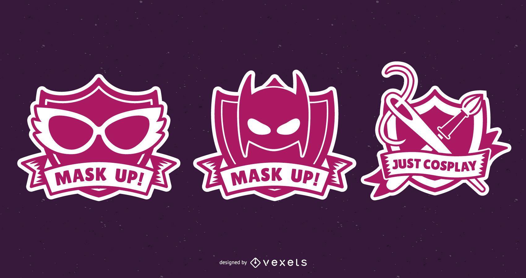 Cosplay Badges Design Set