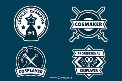 Pack de insignias de cosplay