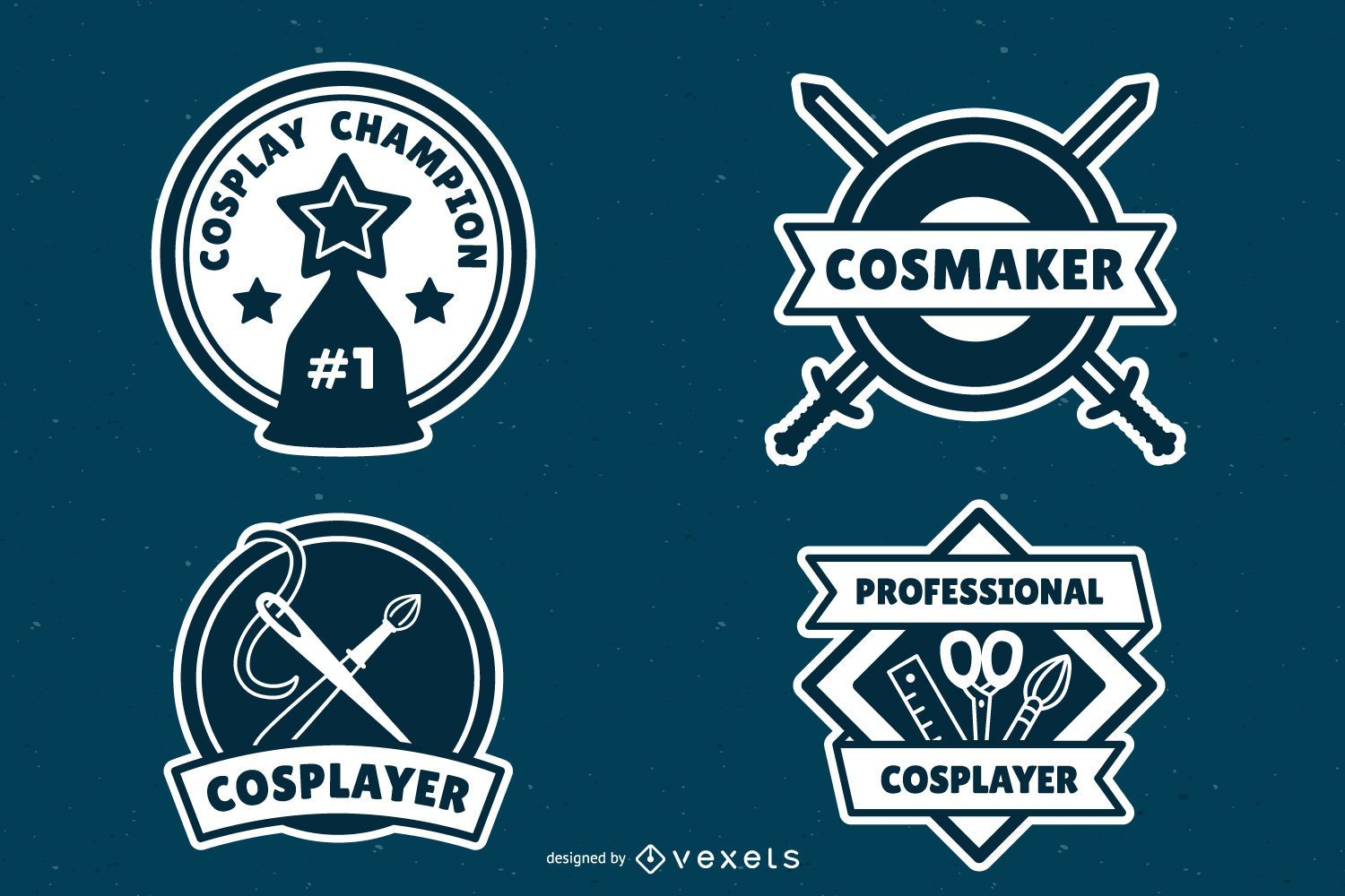 Cosplay badges pack