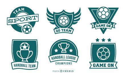 Sammlung von Handballabzeichen