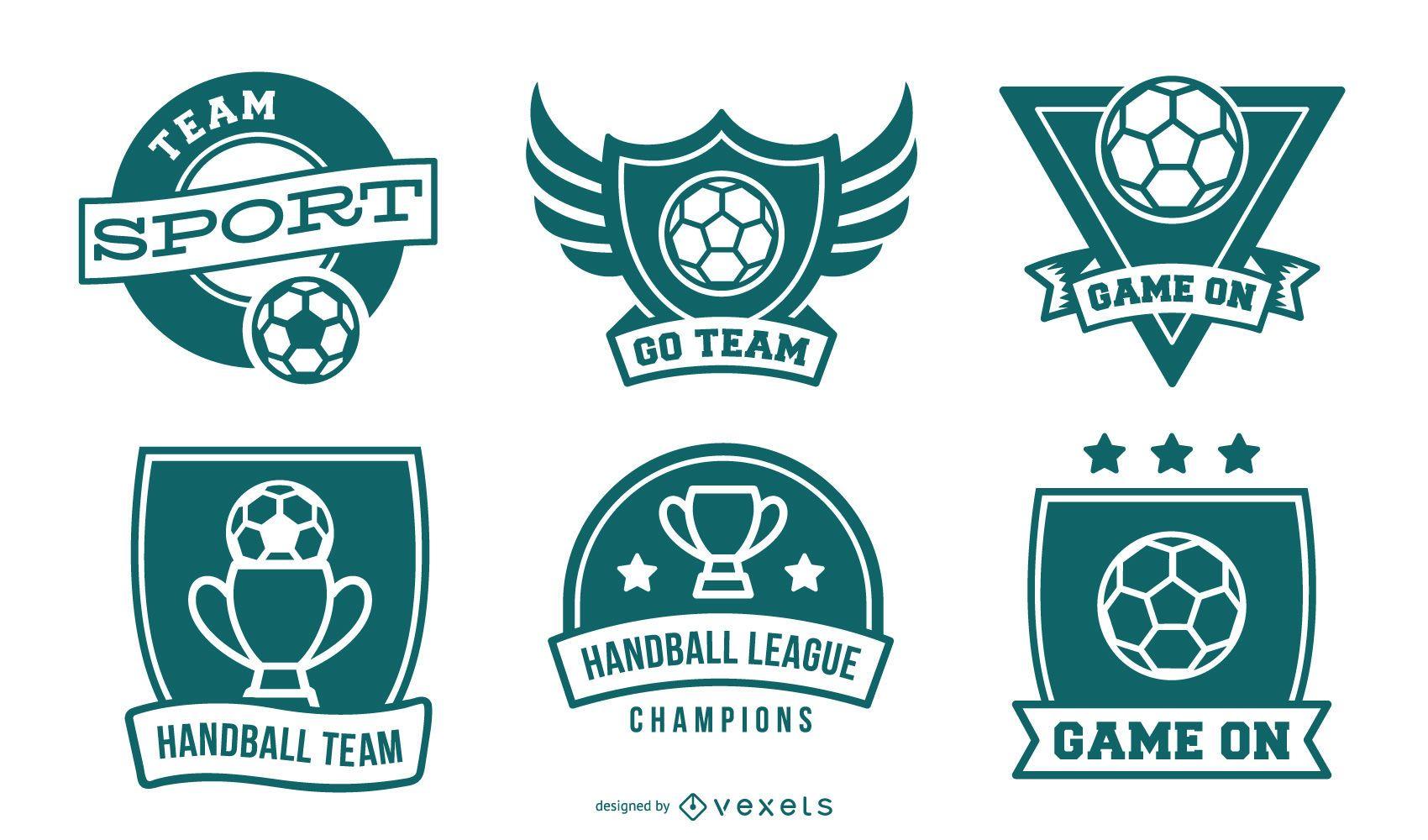 Colección de insignias de balonmano