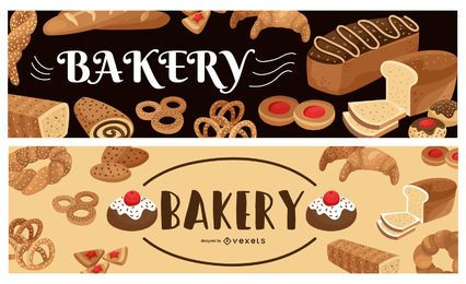 Bäckerei-Banner-Set