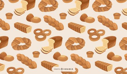 Brot-Backwarenmusterentwurf