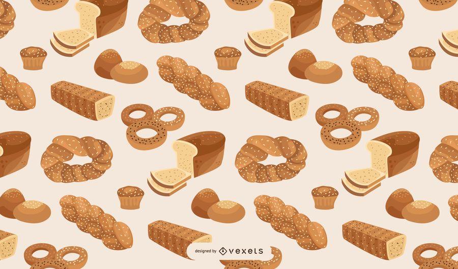 Brot Bäckerei Musterdesign