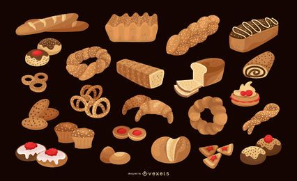 Bäckerei-Vektor-Auflistung