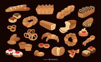 Coleção de vetores de padaria