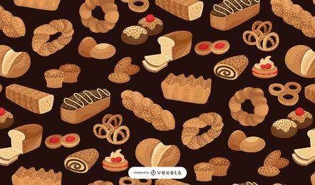 Bäckerei nahtloses Musterdesign