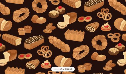 Bakery seamless pattern design