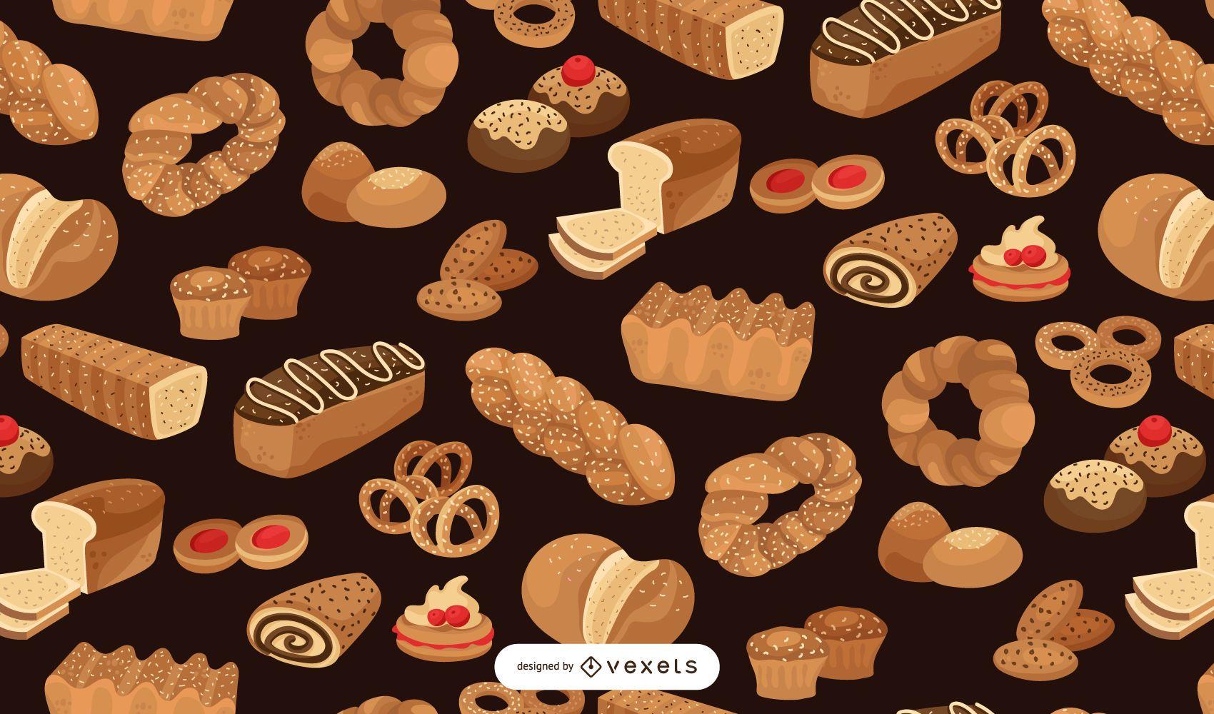 Bakery seamless pattern design
