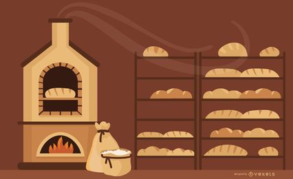 Baking flat illustrtation design