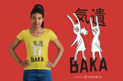 Design engraçado do t-shirt dos coelhos