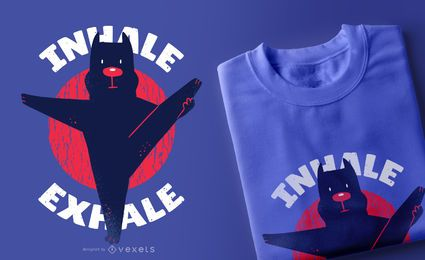 Diseño de camiseta Yoga Pitbull