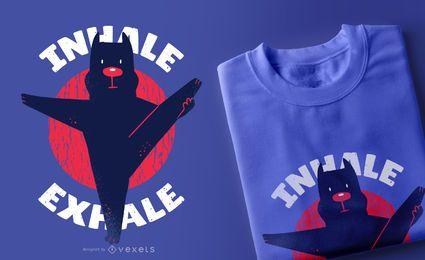 Projeto do t-shirt de Pitbull da ioga