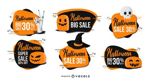 Halloween Discount Badge Set