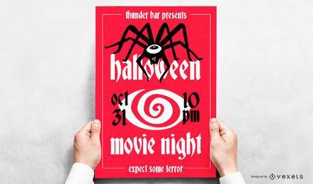 Cartaz de vetor editável de evento de Halloween
