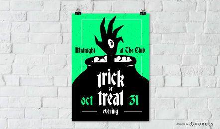 Truco o trato cartel de halloween