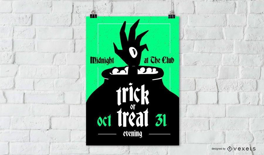 Cartel de halloween truco o trato